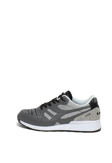 Diadora Pantofi sport unisex cu insertii de piele intoarsa ecologica N9000 Moderna Barbati
