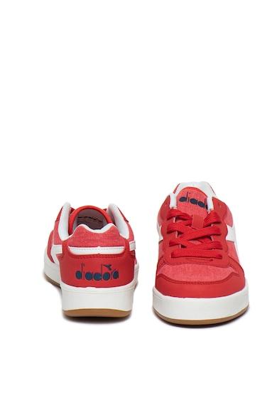 Diadora Pantofi sport cu garnituri de piele ecologica Playground Fete