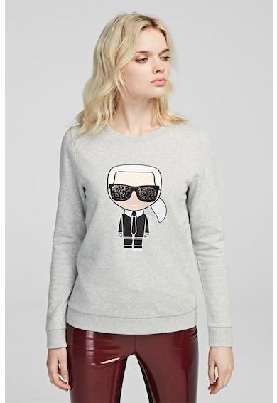 Karl Lagerfeld Bluza sport cu broderie logo Femei