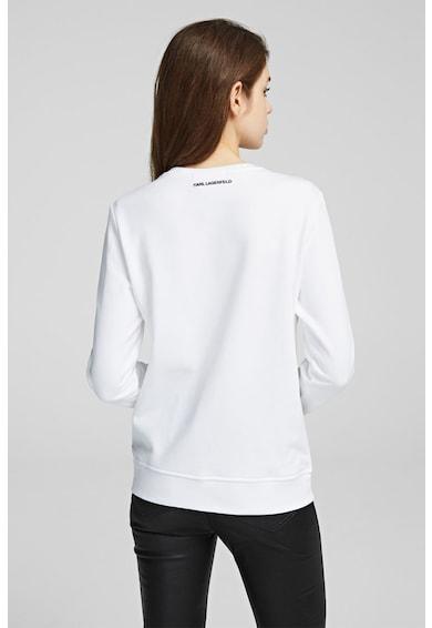 Karl Lagerfeld Bluza sport cu aplicatii de strasuri Femei