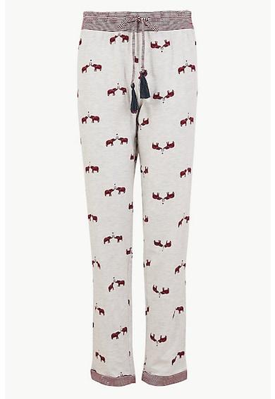 Marks & Spencer Pantaloni de pijama cu imprimeu elefant Femei