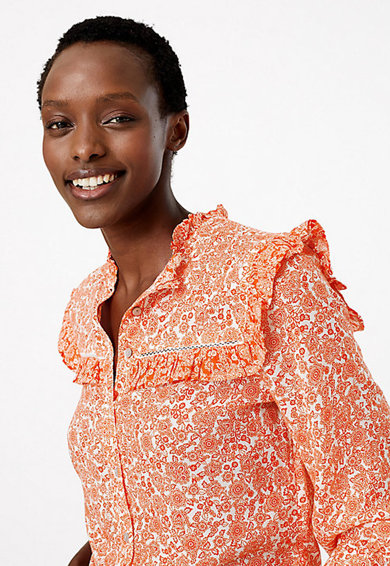 Marks & Spencer Camasa din amestec din lyocell, cu model floral Femei