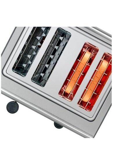 BOSCH Prajitor de paine  , 1800W, 4 felii de paine, control variabil de rumenire, functie decongelare si incalzire, Gri Femei