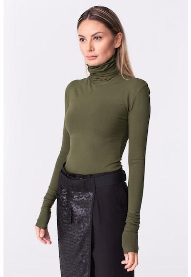 LIN APPAREL Bluza cu guler inalt Femei