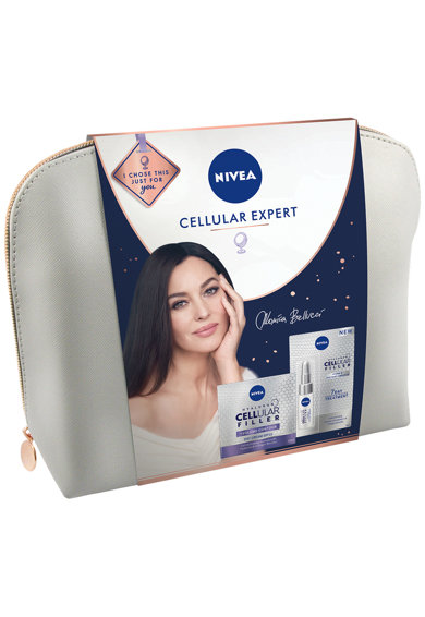 Nivea Set cadou  Cellular Bag: Tratament intensiv + Crema de zi Hyaluron Filler Femei