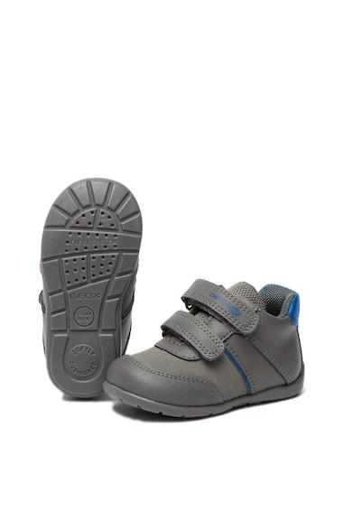 Geox Pantofi de piele ecologica, cu velcro Elthan Fete
