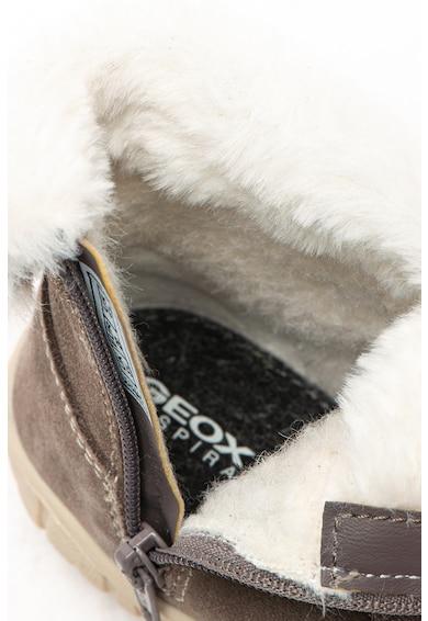 Geox Cizme de piele intoarsa, cu garnitura de blana sintetica Omar Fete
