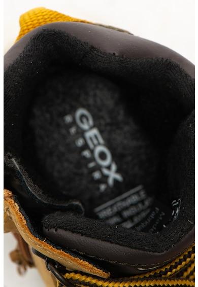 Geox Flexyper rövid szárú nubukbőr bakancs kontrasztos tűzésekkel Lány