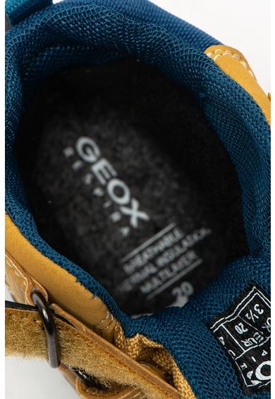Geox Ghete de piele ecologica, cu garnituri din material textil Flanfil Fete