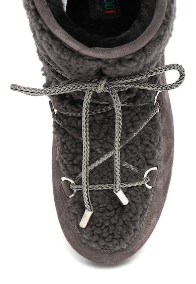 Moon Boot Ghete din piele intoarsa cu insertii din piele de oaie Far Side Femei