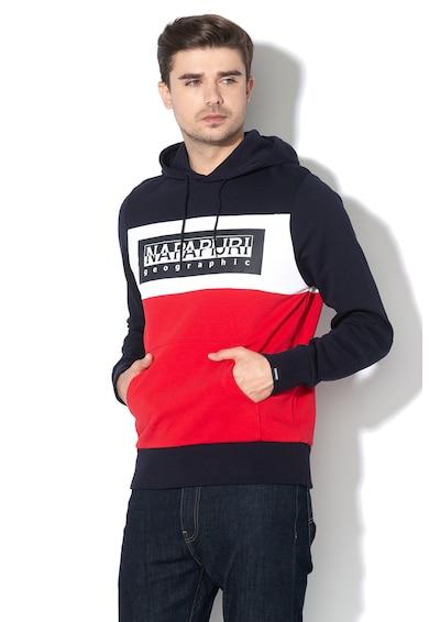 Napapijri Bek logómintás kapucnis pulóver férfi