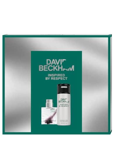 David Beckham Set  Inspired by Respect, Barbati: Apa de toaleta, 40 ml + Deodorant Spray, 150 ml Barbati