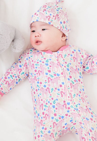 JoJo Maman Bebe Salopeta cu botosei si model unicorn Fete