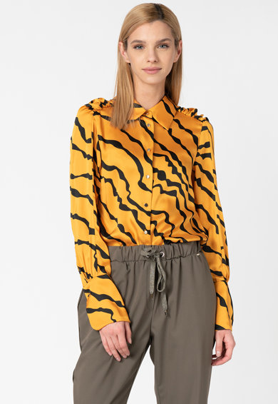 Silvian Heach Collection Camasa din satin cu model zebra Pangma Femei
