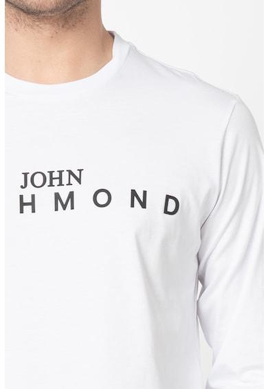 John Richmond Bluza cu logo cauciucat Knudson Barbati