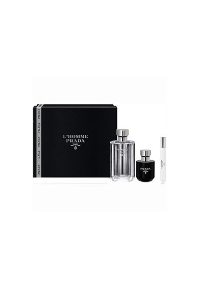 Prada Set  L'Homme, Barbati: Apa de Toaleta, 100 ml + Apa de Toaleta, 10 ml + Gel de dus, 100 ml Barbati