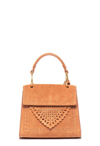 COCCINELLE Велурена чанта с отвори Жени