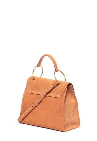 COCCINELLE Велурена чанта с перфорации Жени