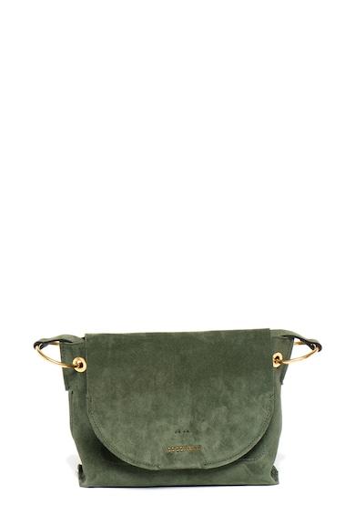 COCCINELLE Велурена чанта Essentielle с лого Жени