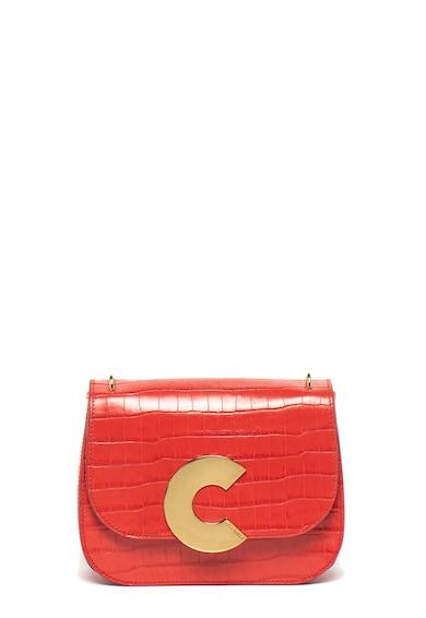 COCCINELLE Кожена чанта Craquante с шагрен Жени