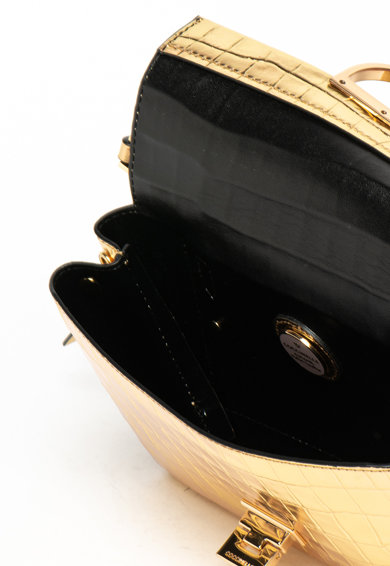 COCCINELLE Кожена чанта Arlettis с шагрен Жени