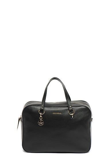 COCCINELLE Кожена чанта за рамо Alpha с лого Жени
