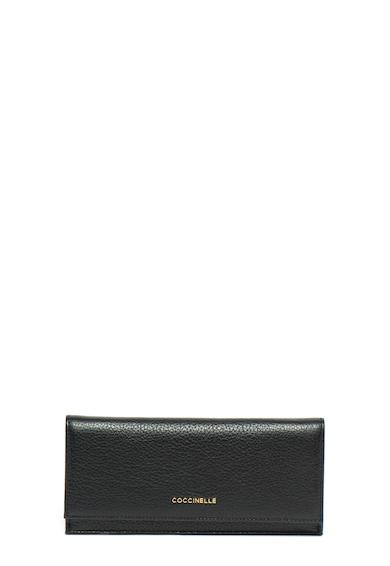 COCCINELLE Кожен портфейл с метално лого Жени