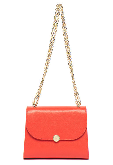 COCCINELLE Кожена чанта Сафиано с верижка Жени