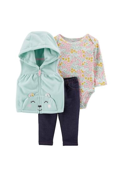 Carter's Комплект боди, елек и клин-панталон Момичета