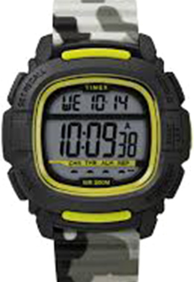 Timex Ceas digital cronograf cu o curea din silicon Barbati