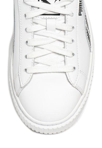 Puma Кожени спортни обувки Basket Platform AOP Жени