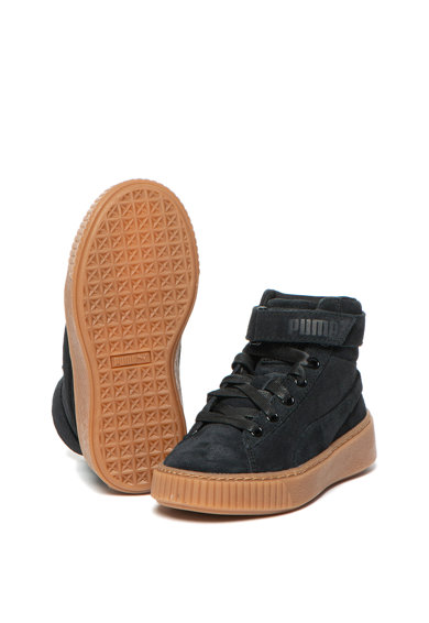 Puma Pantofi sport inalti din piele intoarsa cu platforma Fete