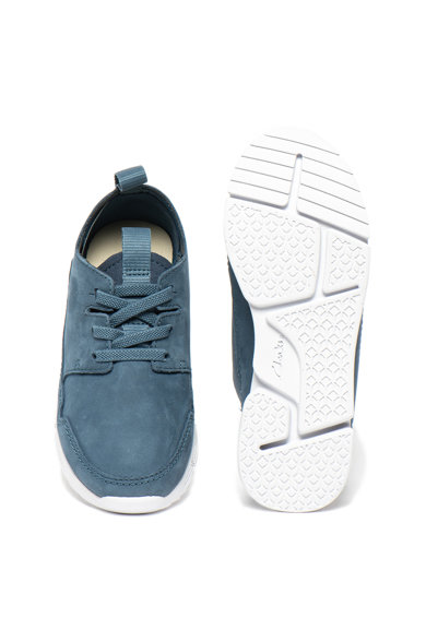 Clarks Pantofi sport slip-on de piele nabuc Tri Utah Baieti