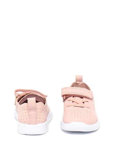 Clarks Pantofi sport de piele nabuc cu aspect perforat Ath Elite Fete