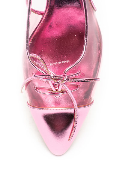 Marc Jacobs Pantofi slingback cu toc kitten si segmente transparente Femei