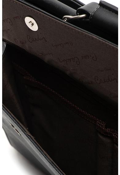 Pierre Cardin Servieta de piele ecologica, cu aspect de piele Saffiano Barbati