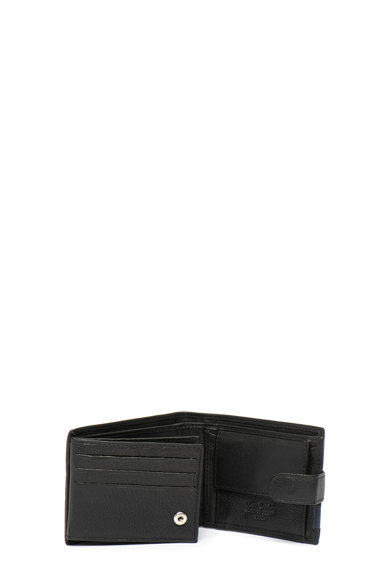 Pierre Cardin Portofel pliabil de piele cu detaliu logo metalic Barbati