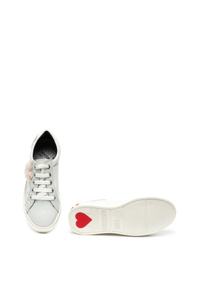 Love Moschino Pantofi sport de piele ecologica, cu aplicatii de paiete Femei