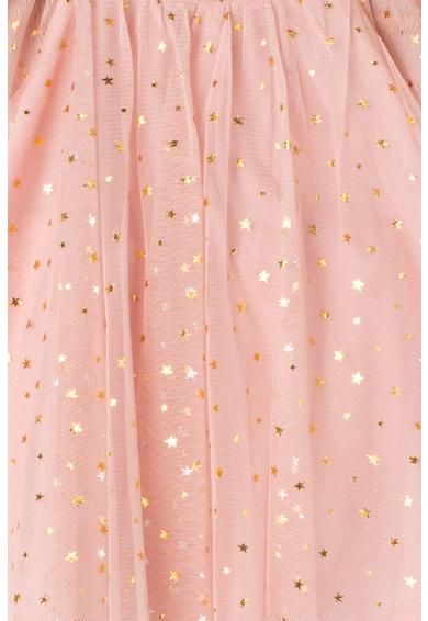 GAP Set de rochie evazata cu imprimeu cu stele si chiloti Fete
