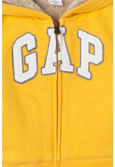 GAP Hanorac cu captuseala din material teddy si logo aplicat Baieti