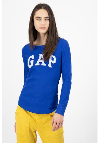 GAP Bluza cu decolteu la baza gatului si imprimeu logo Femei