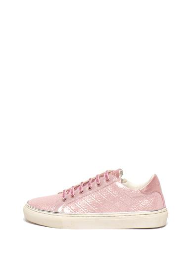 Guess Pantofi sport slip-on de piele ecologica, cu logo stantat Fete