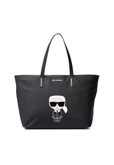 Karl Lagerfeld Geanta shopper cu garnituri de piele Femei