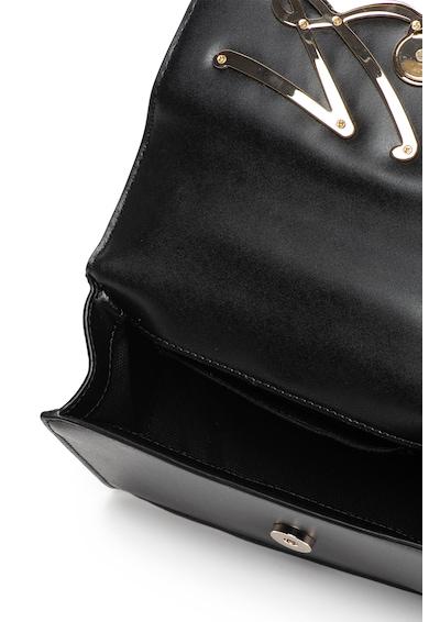 Karl Lagerfeld Geanta crossbody din piele, cu bareta din lant si logo metalic Signature Femei