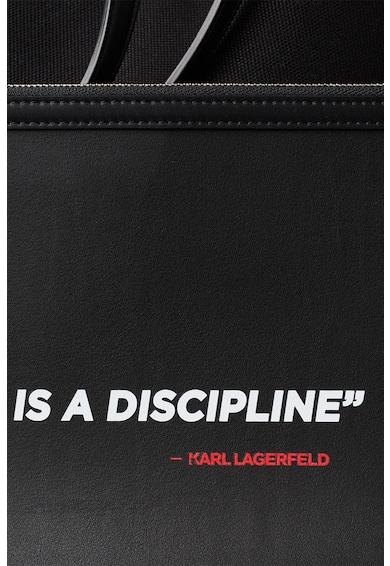 Karl Lagerfeld Geanta shopper de panza, cu etui interior Femei