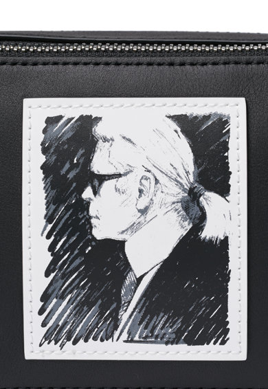 Karl Lagerfeld Geanta crossbody de piele Femei