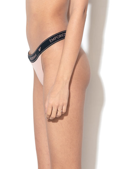 Emporio Armani Underwear Chiloti tanga cu banda elastica cu logo Femei
