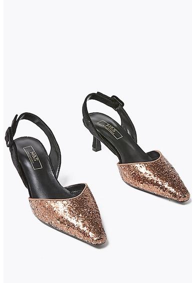 Marks & Spencer Pantofi slingblack cu aspect stralucitor Femei