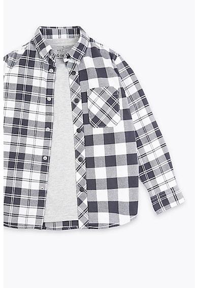 Marks & Spencer Set de camasa in carouri si tricou - 2 piese Baieti