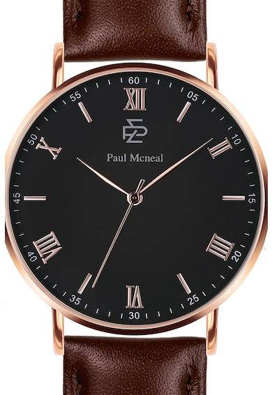 Paul McNeal Ceas rotund cu o curea din piele Barbati